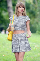 Taylor Swift out with friends in Central Park, New York.