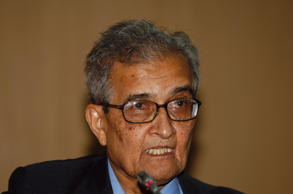 File: India's Nobel economics laureate Amartya Sen speaks during a conference in his honour for development, freedom and welfare in New Delhi December 19, 2008.