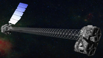 This image provided by NASA shows an artist rendering of the X-ray telescope NuStar.
