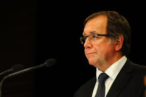 New Zealand Minister for Foreign Affairs, Murray McCully speaks to the media on February 3, 2015 in Wellington.