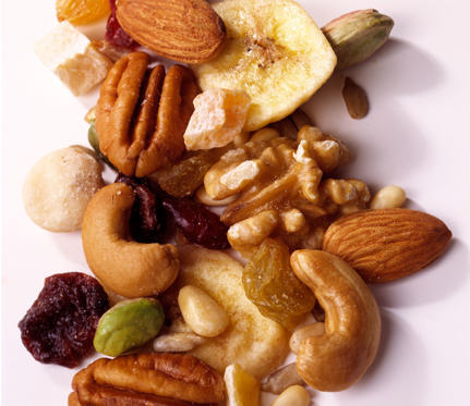 For the most part, nuts are healthy—until you drench them in yogurt, or chocolate, and mix them in with dried fruit. Now, instead of a hearty fiber-filled snack, you have a tub of candy. In most trail mix, a fourth-cup serving can have up to 150 calories. If you know how small that serving size is, you'll nix the store-bought stuff for good and serve up your own instead. If your goal is to burn fat and build muscle, stray from added sugar and up the protein profile by adding oats, almonds, and walnuts.7 Healthy Trail Mix Alternatives >>>