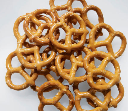 For some reason, pretzels have the illusion of being a healthy snack. And we're not even talking about the jumbo soft pretzels (which will knock you back 500 calories). Ten original hard, twisty pretzels are half the calories, but they're still high in salt, and lack healthy fat and fiber. You can inhale half a bag, and still be hungry for more. 20 New Healthy Snacks Under 200 Calories >>>