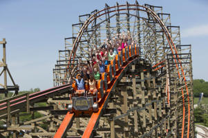 Upon its June debut last year, Goliath shattered three Guinness World Records, including steepest, longest and -- at a top speed of 72 miles per hour -- fastest wooden roller coaster in the world.