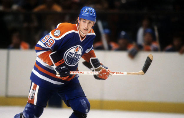 Wayne Gretzky of the Edmonton Oilers.