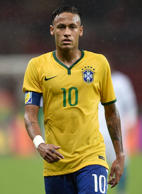 Neymar of Brazil looks on during the International Friendly Match between Brazil and Honduras at Beira Rio Stadium on June 10, 2015 in Porto Alegre, Brazil.