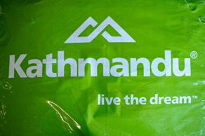 The Kathmandu logo, Sydney, June 30, 2015. Briscoe Group has publicly announced plans to take over outdoor clothing and equipment chain Kathmandu.