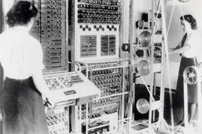 Colossus computer being operated at Bletchley Park in Buckinghamshire, in 1943.