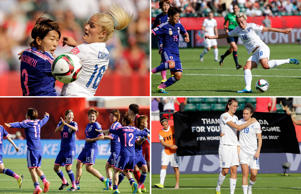 Japan fixed their place in the finals of the FIFA Women's World Cup 2015 after their 2-1 victory over England in the semi-final game in Alberta, Canada on July 1, 2015. Japan will now face USA in the final match scheduled to take place on July 5, 2015. Click through to have a look at some of the highlights from the match.