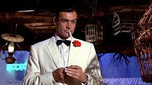 Sean Connery as James Bond in a still from Goldfinger.
