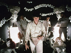 Malcolm McDowell in A Clockwork Orange.
