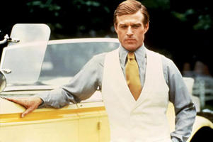 Robert Redford in a still from The Great Gatsby.