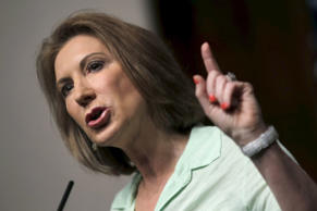 "U.S. Republican presidential candidate Carly Fiorina addresses the ""Road to Majority"" conference in Washington June 20, 2015."