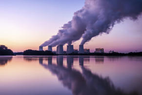 Power Plant viewed at sunrise.