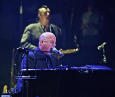 Billy Joel in concert for a record 65th time at Madison Square Garden on Wednesday, July 1, 2015, in New York.