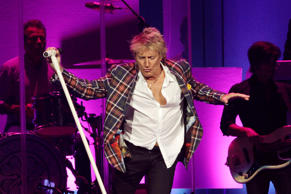Rod Stewart performs at the Wal-Mart shareholder meeting in Fayetteville, Ark., Friday, June 5, 2015.