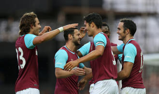 West Ham's Slaven Bilic era kicks off with Europa League win over Andorran minnows FC Lusitans in front of a full house at Upton Park.