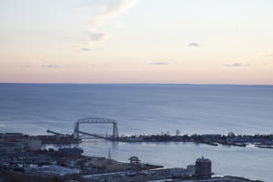 A view of Lake Superior from Duluth, MN.
