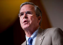 In this June 19, 2015, file photo, Republican presidential candidate former Florida Gov. Jeb Bush speaks in Washington.