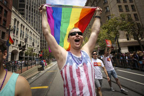 San Francisco gay pride parade two days after the U.S. Supreme Court's landmark decision that legalized same-sex marriage throughout the country. ELIJAH NOUVELAGE/Newscom/Reuters