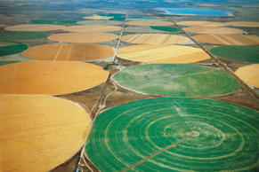 Irrigation of wheat fields north of Denver. DeAgostini/Getty Images