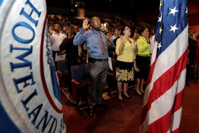 Naturalization ceremony in Miami. Lynne Sladky/AP