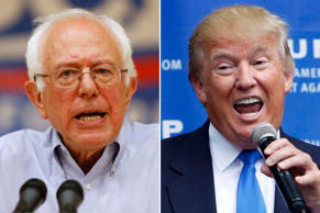 (From left) Sen. Bernie Sanders and Donald Trump.