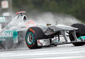 Der damalige Mercedes-Pilot Michael Schumacher am 8. Juli 2015 in Silverstone.