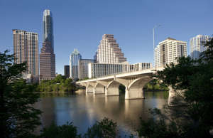 Skyline of Austin, Texas.