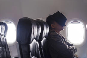Sleep on a plane