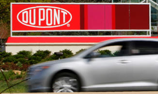 A view of the Dupont logo on a sign at the Dupont Chestnut Run Plaza facility near Wilmington, Delaware, in this file photo taken April 17, 2012.