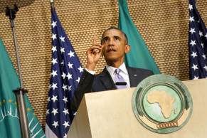 President Barack Obama addresses the African Union in Addis Ababa, Ethiopia July 28, 2015.