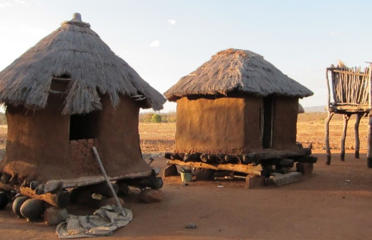 Grain bins much like these modern ones, photographed in southern Africa, were ritually burned down during Africa's Iron Age. The scorched ground beneath them conserved rare clues about the Earth's magnetic field.