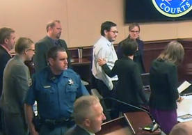 James Holmes appears in court.