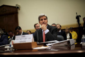 U.S. Secretary of State John Kerry testifies before a House Foreign Affairs Committee hearing on the Iran nuclear agreement in Washington, July 28, 2015.