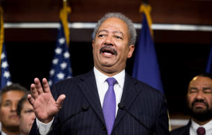 Rep. Chaka Fattah, D-Pa., speaks as House Democrats hold a news conference to call for presidential action on immigration on Thursday, Nov. 13, 2014.