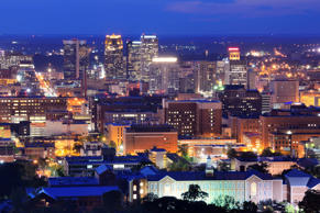Downtown Birmingham, Alabama.