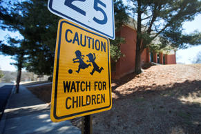"In this Friday, Feb. 13, 2015 photo, a caution sign stands in front of D.H. Stanton Elementary School in Atlanta. Georgia would become one of several states authorized to take over schools that Gov. Nathan Deal has called ""chronically failing"" in a recently introduced plan. Under Deal's plan a superintendent, appointed by and accountable to the governor, would select up to 20 schools deemed failing each year. The superintendent then could make them into charters, close them or overhaul management. D.H. Stanton Elementary School is on a list of schools that could be eligible."