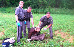 Capture de David Sweat à Constable, dans l'État de New York, près de la frontière canadienne le 28 juin 2015.
