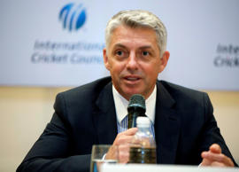 Newly appointed Chief Executive of the International Cricket Council (ICC) David Richardson of South Africa addresses a press conference in Kuala Lumpur, Malaysia, Thursday, June 28, 2012.