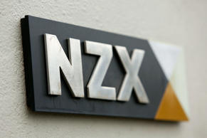 A general view of NZX signage.