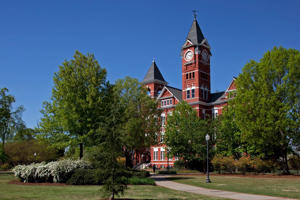 The campus of Auburn University in Auburn, Alabama