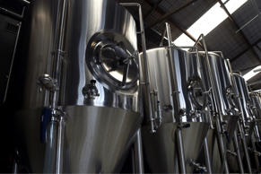Beer vats stand in row at the Batch Brewing Co. in Sydney.