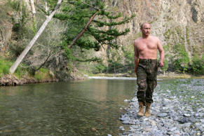 "** FILE** In this Aug. 15, 2007 file photo, Vladimir Putin, then Russian President, walks along the Khemchik River in the Tuva region of Siberia, Russia.  In its September ""Sexy Rating"" list, Russia's Sex & the City magazine ranked now Prime Minister Vladimir Putin as the second sexiest politician. Ahead of the pack is Boris Nemtsov, a former leader of opposition party Union of the Right Forces now viewed by many as a spent force. (AP Photo/RIA-Novosti, Dmitry Astakhov, Presidential Press Service)"