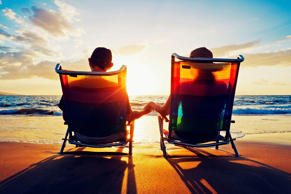 Senior couple watching the sunset. Getty Images/iStockphoto
