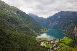 A scenic view of Norwegian Fjords, Norway.