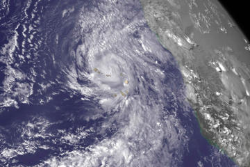 Hurricane Fred is seen near the Cape Verde Islands in this NOAA Goes East satellite image taken on August 31, 2015.