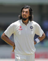 India's Ishant Sharma looks skywards on the final day of their third test cricket match in Colombo, Sri Lanka, Tuesday, Sept. 1, 2015.
