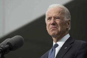 US Vice President Joe Biden speaks during the dedication of the Edward M. Kennedy Institute for the United States Senate in Boston, Massachusetts, March 30, 2015.