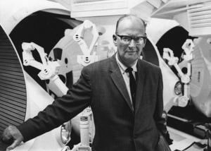 Science fiction author Arthur C. Clarke poses in this undated photo released in the late 1960s.