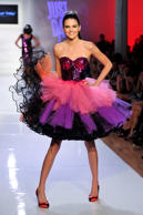 Kendall Jenner walks the runway at the Just Dance 4 show during Fashion Week on ...